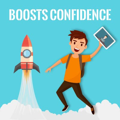 Boosts confidence for exam preparation.